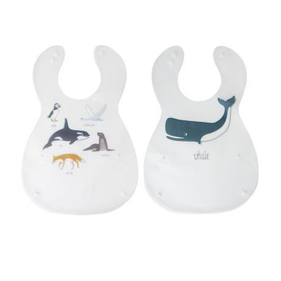 Sebra - Bib Arctic Animals (2 pieces)