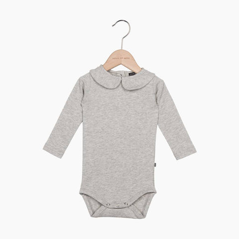 House of Jamie - Girls Collar Bodysuit Stone