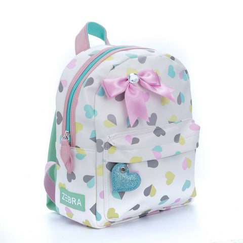 Zebra Trends - Backpack Small Hearts White