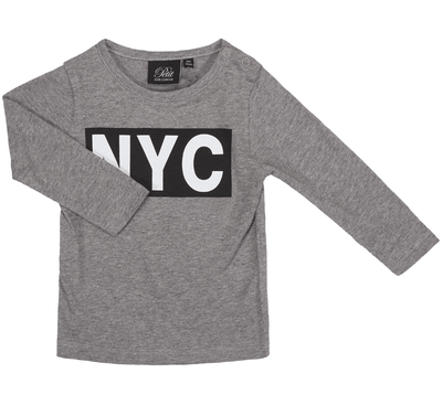 Petit Sofie Schnoor - T-Shirt Long Sleeve NYC Grey Melange
