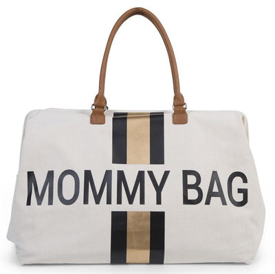 Childhome - Mommy Bag XL Off White Stripes Black/Gold