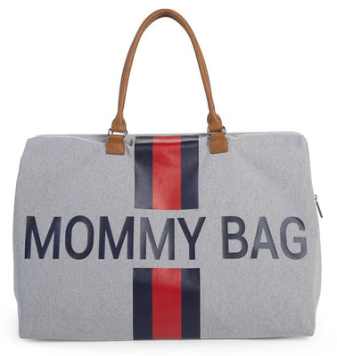 Childhome - Mommy Bag XL Grey Stripes Red/Blue