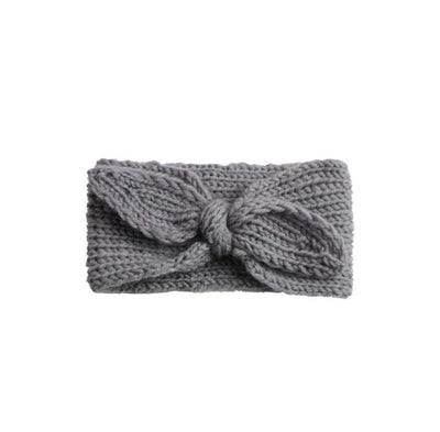 Cos I Said So - Headband Bow Crochet Dark Grey