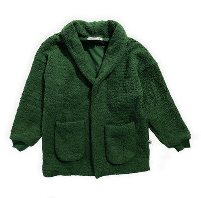 Cos I Said So - Long Coat Teddy Bouclé Green