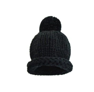 Cos I Said So - Pompom Crochet Hat Black