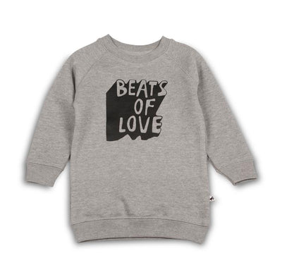 Cos I Said So - Sweater Dress Beats Of Love Heather Grey