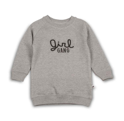 Cos I Said So - Sweater Dress Girl Gang Heather Grey