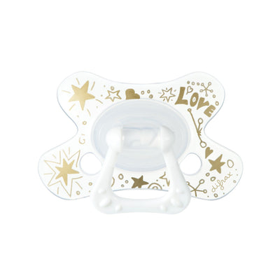 Difrax - Pacifier Dental 6+ Months Gold Love