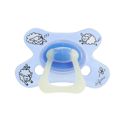 Difrax - Pacifier Natural 6+ Months Sheepy Baba (Glow)