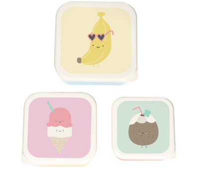 Eef Lillemor - Aloha Snackbox Set of 3 Banana