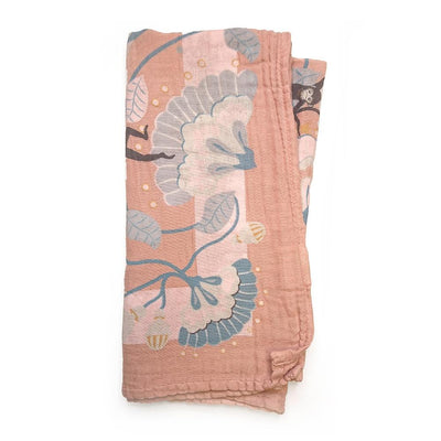 Elodie Details - Bamboo Muslin Blanket Faded Rose Bells