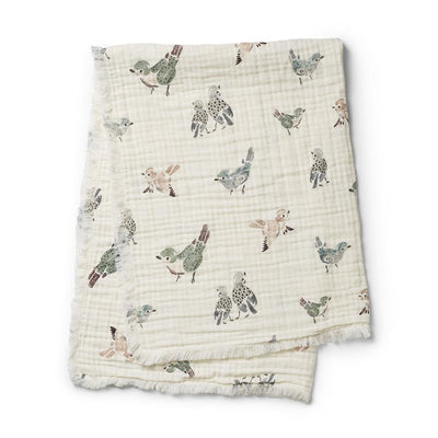 Elodie Details - Soft Cotton Blanket Feathered Friends
