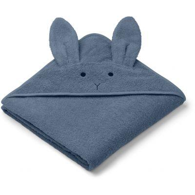Liewood - Augusta Hooded Towel Rabbit Blue Wave