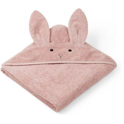 Liewood - Augusta Hooded Towel Rabbit Rose