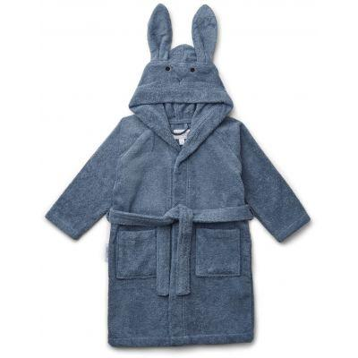 Liewood - Lily Bathrobe Rabbit Blue Wave