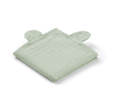 Liewood - Hannah Muslin Cloth Mr. Bear Little Dot Dusty Mint 2 Pack