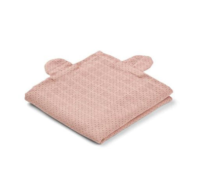 Liewood - Hannah Muslin Cloth Mr. Bear Little Dot Rose 2 Pack