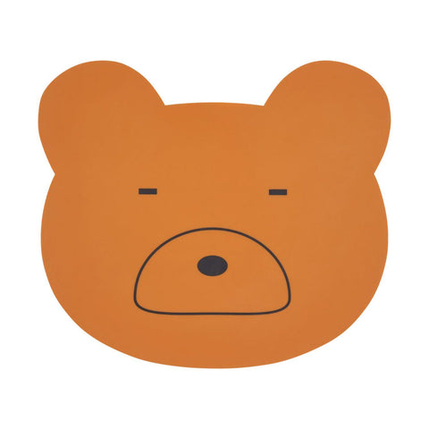 Liewood - Aura Placemat Mr. Bear Mustard