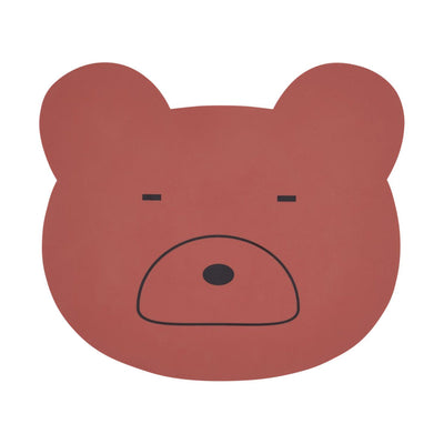Liewood - Aura Placemat Mr. Bear Rusty