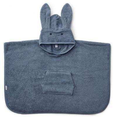 Liewood - Orla Poncho Rabbit Blue Wave
