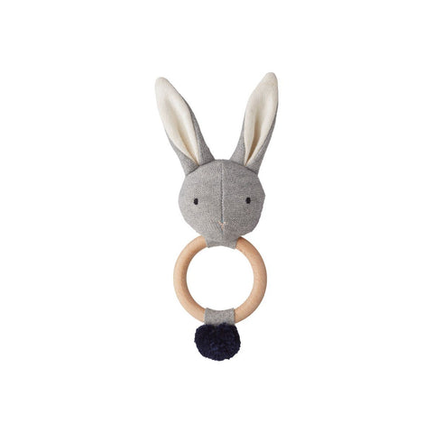 Liewood - Aria Rattle Rabbit Grey Melange