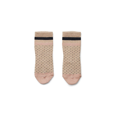 Liewood - Silas Lurex Socks Little Dot Gold