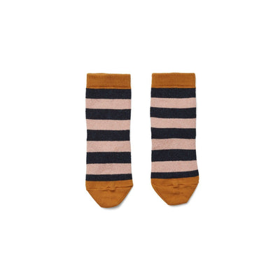 Liewood - Silas Lurex Socks Stripe Rose/Navy