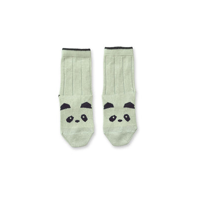Liewood - Silas Socks Panda Dusty Mint