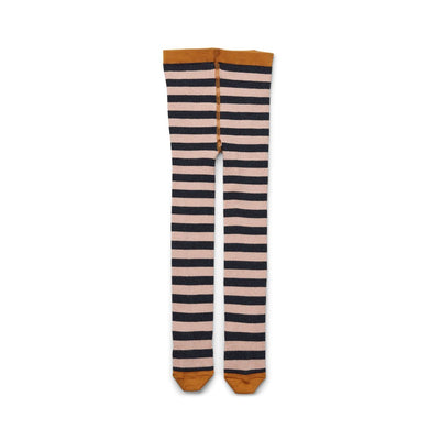 Liewood - Silje Lurex Stockings Stripe Rose/Navy