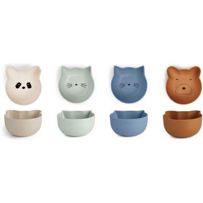 Liewood - Rex Snack Bowl 4Pack Blue Mix