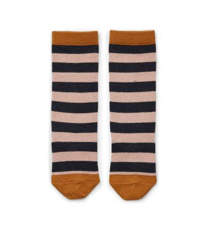 Liewood - Sofia Lurex Knee Socks Stripe Rose/Navy