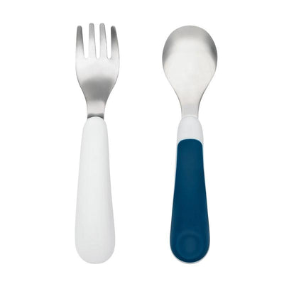 Oxo Tot - Fork & Spoon Set Navy