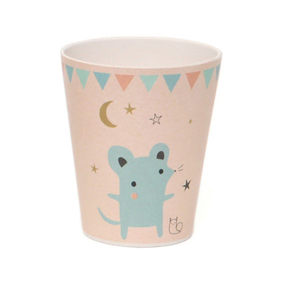 Petit Monkey - Bamboo Cup Mouse Peach