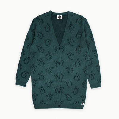 Sproet & Sprout - Cardigan Women Bugs Allover Dark Forrest Green