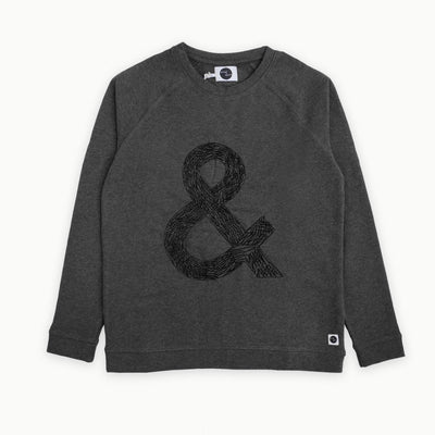 Sproet & Sprout - Sweater Women Raglan & Sign Dark Grey Melee