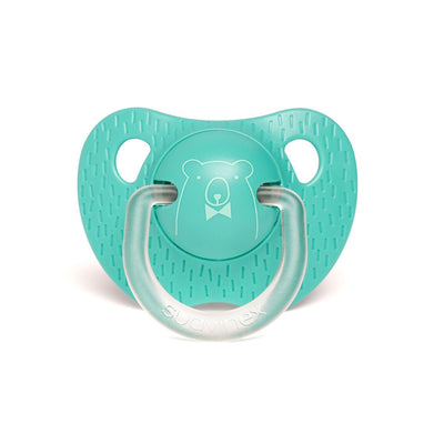 Suavinex - Pacifier Evolution Anatomical 6-18 Months Bear Dark Green