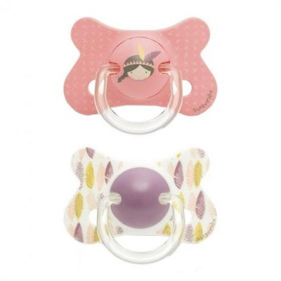 Suavinex - Pacifier Fusion Anatomical +18 Months Indian Pink 2Pack