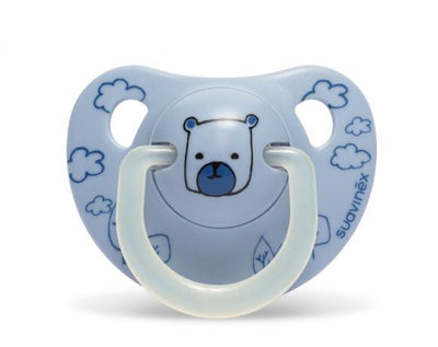 Suavinex - Pacifier Night & Day Anatomical 0-6 Months Bear Blue