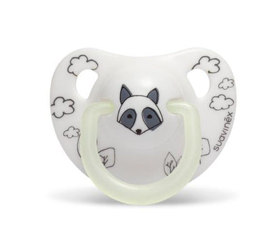 Suavinex - Pacifier Night & Day Anatomical 0-6 Months Fox White