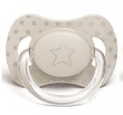 Suavinex - Pacifier Anatomical Basic 6-18 Months Taupe Star