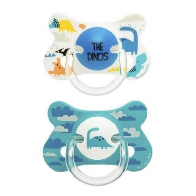Suavinex - Pacifier Fusion Anatomical +18 Months The Dinos 2Pack