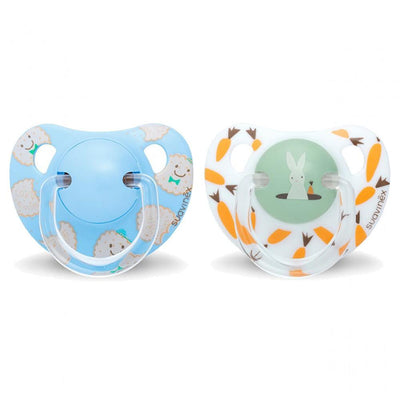 Suavinex - Pacifier Anatomical +18 Months Rabbit & Cookies Blue 2Pack