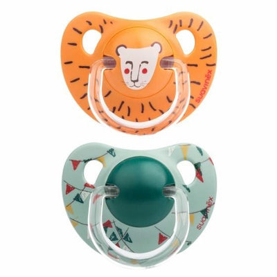 Suavinex - Pacifier Anatomical +18 Months Lion 2Pack