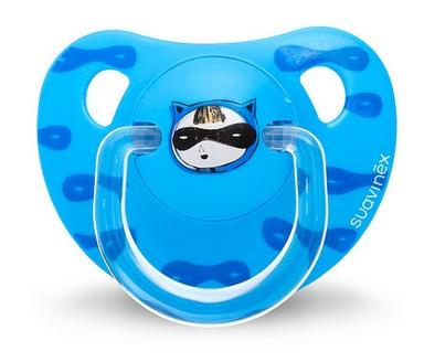 Suavinex - Pacifier Anatomical 6-18 Months Petite Secret Blue