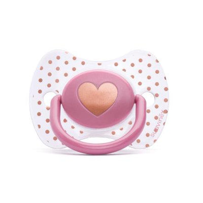 Suavinex - Pacifier Couture Physiological +12 Months Heart Purple