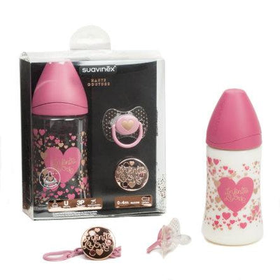 Suavinex - Giftset Couture 0-4 Months Heart Pink