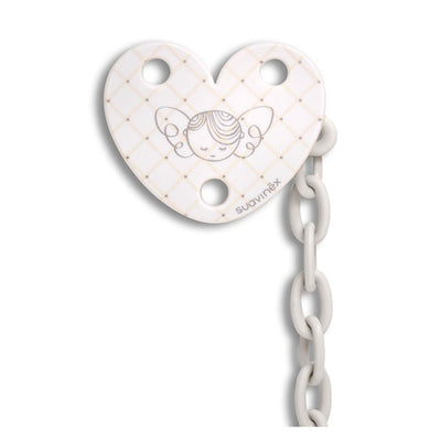 Suavinex - Pacifier Clip White Angel
