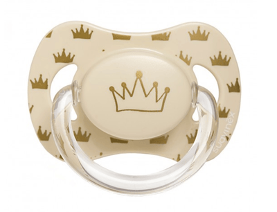 Suavinex - Pacifier Anatomical Basic 6-18 Months Creme Crown