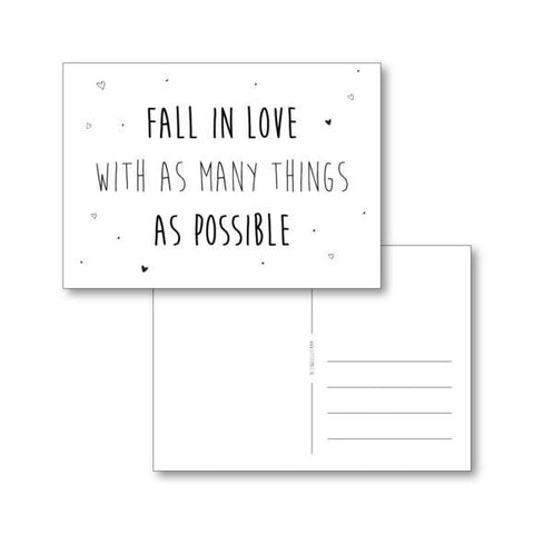 Little Small Postcard Fall In Love ...