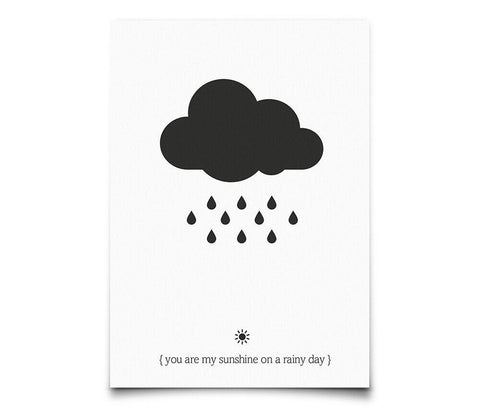 Postcard Eef Lillemor You Are My Sunshine On A Rainy Day